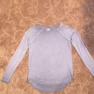 Gray long sleeve super soft top
